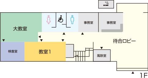 はりま高齢者講習専門校 館内図1F