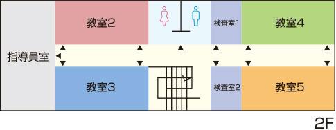 はりま高齢者講習専門校 館内図2F